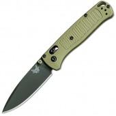 Benchmade 535 Bugout Gray Blade, Ranger Green Grivory Handle