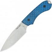 Bradford Guardian4, M390, Sabre, Stonewash, Black and Blue G-10, 4S-013