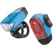 Комплект света Lezyne KTV Drive Pair (200/10 Lumens) голубой