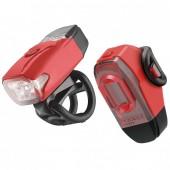 Комплект света Lezyne KTV Drive Pair (200/10 Lumens) красный