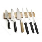 Магнитный держатель для ножей, орех, прямоугольный