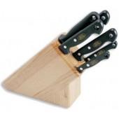 Набор ножей MAM, 5шт., светлое дерево, №420