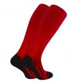 Термоноски длинные (гольфы) Trekking LongDry черно-красные