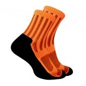 Термоноски Trekking ShortDry черно-оранжевые