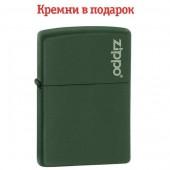 Зажигалка Zippo Green Matte With Zippo Logo