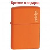 Зажигалка Zippo Orange Matte With Zippo Logo