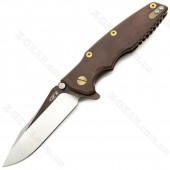 Zero Tolerance 0392BRNGLD Hinderer Brown/Gold Factory Custom Limited